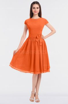 1dd35a0b96 11 Best Tangerine bridesmaid dresses images