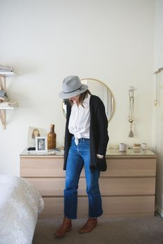 7 Days of Outfits: Hats + Boots - Seasons + Salt