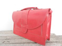 SALE  Leather Messenger Bag for Women Girls Red by NoussaBags so cute i want it so bad for school