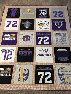 Excited to share this item from my shop: T-Shirt Quilt Memory Quilt Custom 20 Block T-Shirt/Memory Quilt Graduation Quilt Coach/Sponsor Quilt Relay for Life Quilt Boy Quilts, Rag Quilt, Quilt Blocks, Baby Boy Blankets, Layout, Custom T, Quilt Patterns, T Shirt Quilt Pattern, T Shirt Quilt Diy