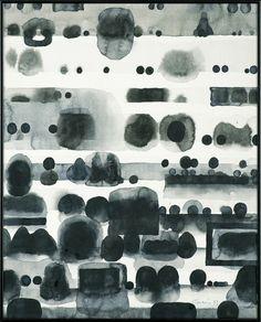 Jan Tarasin - Polish, 1926-2009 - Records 3, 1993 - Indian ink, brush, paper
