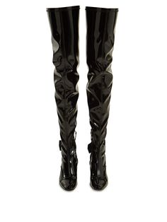 Over-the-knee patent-leather boots Patent Leather Boots, Cyber Monday, Fashion Boots, Women Wear, Shopping, Collection