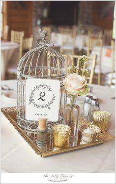 birdcage wedding centerpieces