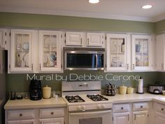 Kitchens With White Cabinets And Green Walls kitchens cream cabinets green walls | 30 phenomenal painted