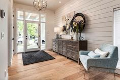 Modern transitional foyer design for this beautiful contemporary home interior.