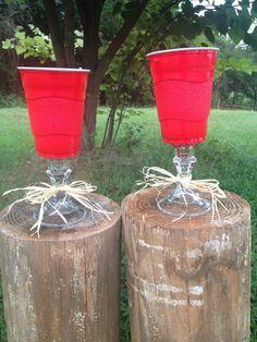 redneck wedding | Redneck Champagne Flutes - Rustic Western Style Wedding