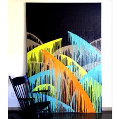 Artist: Greta Claire  6'x9' abstract painting.