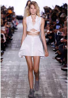 ALEXANDER WANG EXCLUSIVE DECONSTRUCTED SHIRT DRESS Long dress Adult 12_n_r