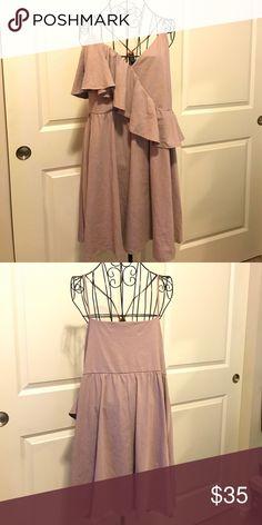 Asos Lilac Cross Front Ruffle Dress Asos Lilac Cross Front Ruffle Dress ASOS Dresses Midi