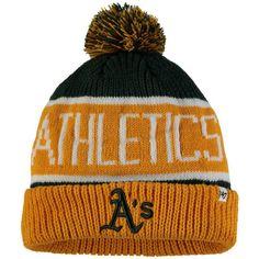 d038e17db7004e Oakland Athletics '47 Calgary Cuffed Knit Hat with Pom - Green/Gold