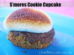 S'mores Cookie Cupcakes Recipe by A Turtle's Life for Me