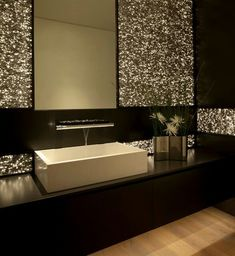 glitter bathroom