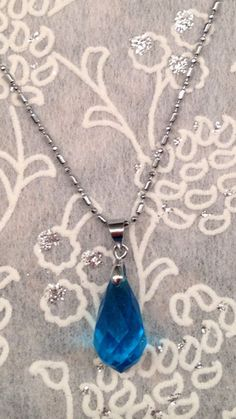 Sword Art Online Yui Heart Necklace Blue Swarovski Crystal