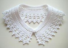 Crochet Ear Warmer Pattern, Crochet Collar Pattern, Col Crochet, Crochet Lace Collar, Crochet Headband Pattern, Lace Knitting, Crochet Patterns, Crochet Toddler Dress, Toddler Dress Patterns