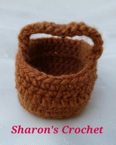 Looking for your next project? You're going to love Miniature Basket Pattern by designer Sharons Crochet.