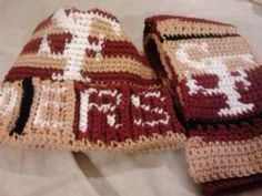 SF 49ers Handmade Crochet Skull Cap and Scarf by Aaccezzories, $25.00