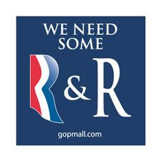 GOP Mall :: We Need Some R & R Sticker 4×4 Navy Blue