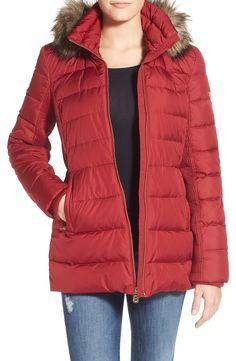 Michael Michael Kors Chevron-Quilted Packable Down Jacket ...