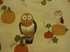 """Enchanting """"OCTOBER OWLS"""" Handmade Cotton Pillowcase Standard/Queen #AlexanderHenry #Fall"""