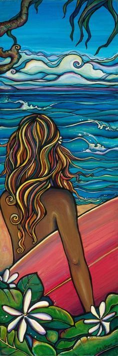 Surf Life - Art Inspiration - North Shore - Giclee (Canvas Print) - by Colleen…