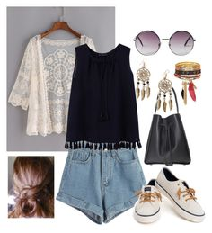 """festival"" by elenagabriela-2 on Polyvore featuring WithChic, Violeta by Mango, Sperry, Boohoo and Monki"