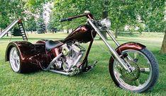 Custom Trikes, Custom Sportster, Custom Choppers, Custom Harleys, Custom Motorcycles, Motorcycles For Sale, Custom Cars, Trike Chopper, Black