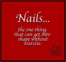 If only getting our nails in shape would do that same for the rest of our bodies.If only getting our nails in shape would do that same for the rest of our bodies. Barber School, Us Nails, Haha Funny, Love Hair, Cosmetology, Get In Shape, Bodies, Nailart, Rest
