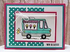 Peanuts and Peppers Papercrafting: Try It Thursday - Stampin' Up! Tasty Trucks Thinking of You Card