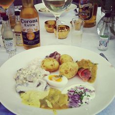 Swedish midsummer food.