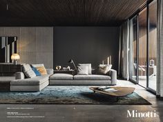 Minotti sectional. Clean and classic