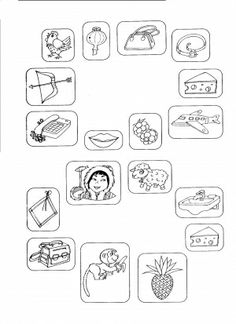 Čtení - stejná hláska na začátku slov Speech Therapy, Worksheets, Preschool, Logos, Literature, Speech Pathology, Speech Language Therapy, Kid Garden, A Logo