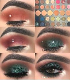 15 Easy & Gorgeous Makeup Looks For Beginners 15 Easy & Gorgeous Make. - 15 Easy & Gorgeous Makeup Looks For Beginners 15 Easy & Gorgeous Makeup Looks For Beginn - Green Eyeshadow, Eyeshadow Looks, Makeup Eyeshadow, Eyeliner, Eyeshadow Makeup Tutorial, Younique Eyeshadow, Morphe Eyeshadow, Simple Eyeshadow, Makeup Pictorial