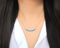 Simple Necklace Czech Glass Necklace Bead Bar by SongYeeDesigns, $28.00