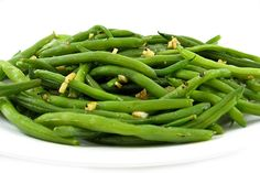 Simply Garlic Green Beans. There's so much flavor in this yummy vegetable dish! Each skinny serving has 48 calories, 2 grams of fat and only 1 Weight Watchers POINTS PLUS. http://www.skinnykitchen.com/recipes/skinny-garlic-green-beans/