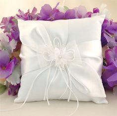 tiger lily wedding ring pillow