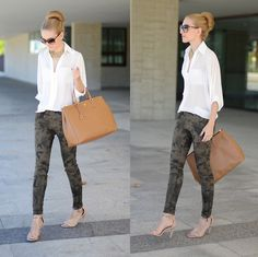 What to wear with Gap Camo Pants?? | GBCN.. Not a big Gap shopper, but I love this look.