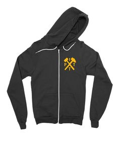 Allegheny Youth Navy Fleece Hoodie Arched Football Design