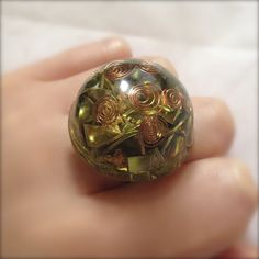 Gold Leaf Orgonite Ring – The Paradise Planet