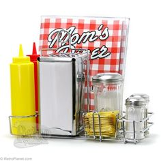 The simple edition of classic diner condiments to your table can infuse that retro feel, whatever your kitchen decor.