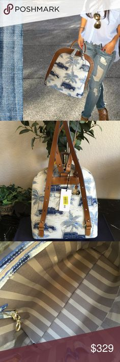 Spotted while shopping on Poshmark  🐟🌴⚓️Brahmin Blue Copa Cabana ROSEMARY  Bag! 627e2e366d