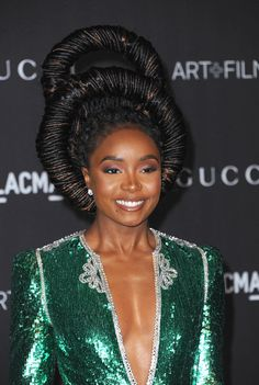 Photo about Kiki Layne at the 2019 LACMA Art + Film Gala Presented By Gucci held at the LACMA in Los Angeles, USA on November Image of actress, movie, actor - 162803621 Black Women Hairstyles, Cool Hairstyles, Afro Punk Fashion, Beauty And The Beat, Natural Hair Inspiration, African American Hairstyles, Hair Images, Hair Photo, African Beauty