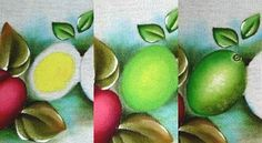 Pintura em Tecido Passo a Passo: Como pintar limão em tecido passo a passo