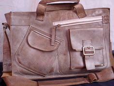 Complicated Laptop Leather Bag Handmade Laptop Bag by 74streetbags, $245.00