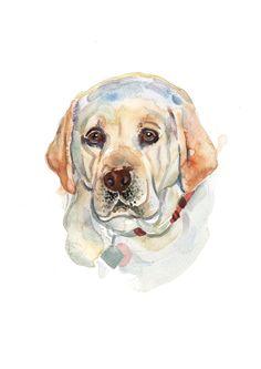 Custom Pet Portrait - Original Art - A3(42 x 29.7cm) - Watercolor Painting - Art - Dogs