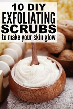 If you're looking for inexpensive DIY exfoliating scrubs to get rid of dry skin and make your whole body glow from head to toe, this collection of natural, homemade scrubs is for you! It has lots of different sugar scrub ideas for your face, hands, lips, and legs, as well as one of the best cellulite remedies you'll find on the internet. Good luck!