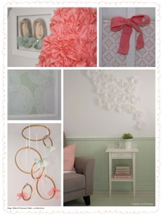 Blushink_BabyGirl_Nursery3    The beautiful little girl shoes that are framed on the wall are such a wonderful idea!