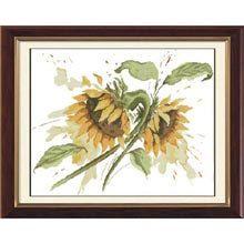 Cross Stitch Kit  Sunflower Duo by CrossStitchKitsOnly on Etsy, $25.00