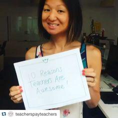 Follow  @teacherspayteachers for 10 reasons you are amazing! #teacherlife #TpTBTSLove