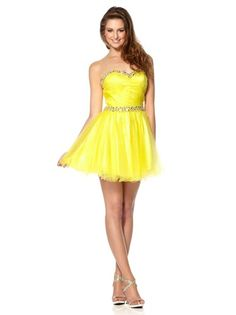 Sweet mini prom dress with a sweetheart neckline by Dynasty
