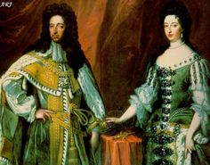 King William III (Reign 1689 to 1702) and Queen Mary II Stuart (Reign 1689 to 1694) . They ruled England jointly and equally. They had no heirs, so their successor was Mary's sister, Anne.